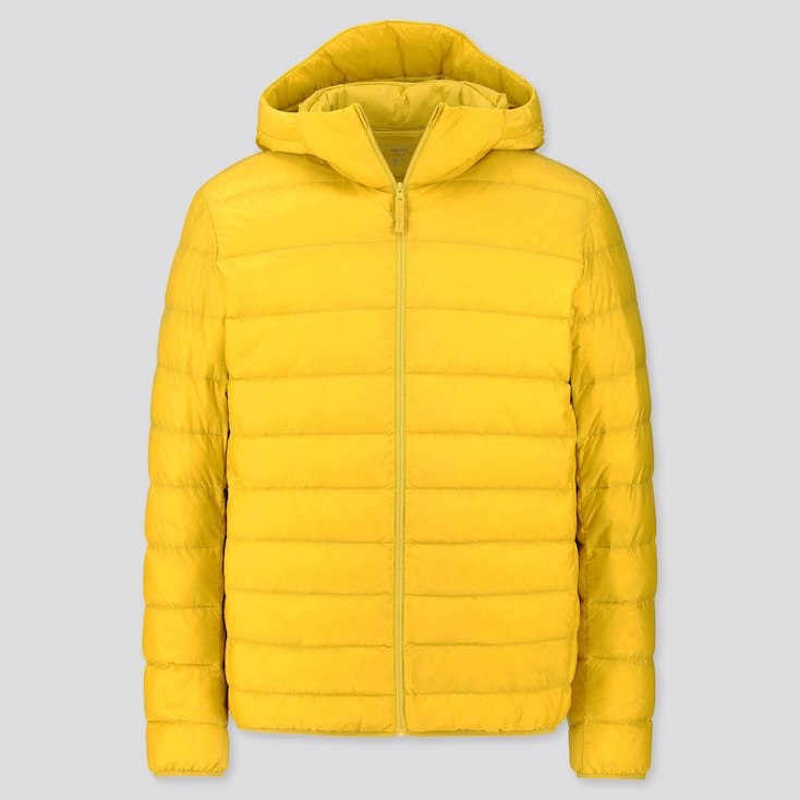 Men Ultra Light Down Parka, Yellow, Large