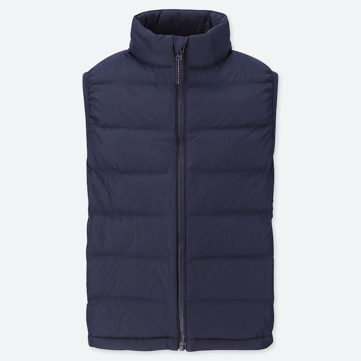 Kids Light Warm Padded Vest, Navy, Large