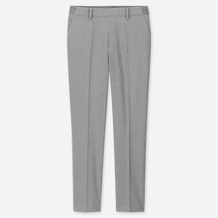WOMEN EZY ANKLE-LENGTH PANTS, GRAY, large