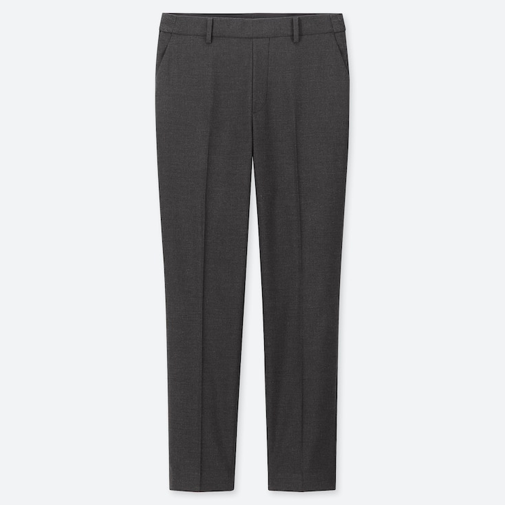 WOMEN EZY ANKLE-LENGTH PANTS, DARK GRAY, large