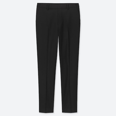 WOMEN EZY ANKLE-LENGTH PANTS, BLACK, medium