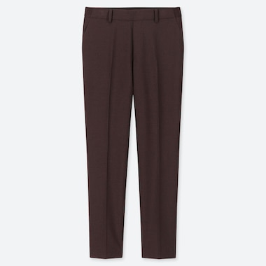 WOMEN EZY ANKLE-LENGTH PANTS, WINE, medium