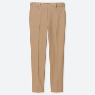 WOMEN EZY ANKLE-LENGTH PANTS, BEIGE, medium