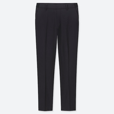 WOMEN EZY ANKLE-LENGTH PANTS, NAVY, medium