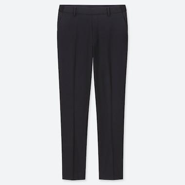 Women Ezy Ankle-Length Pants, Navy, Medium
