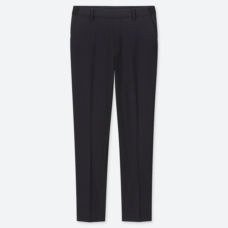 WOMEN EZY ANKLE-LENGTH PANTS, NAVY, large