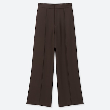 WOMEN HIGH WAISTED DRAPE WIDE LEG TROUSERS