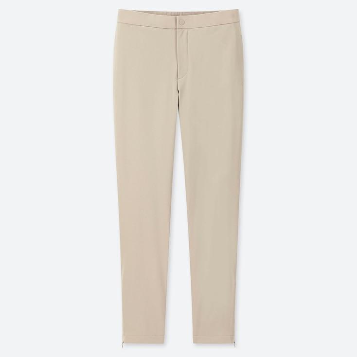 WOMEN HEATTECH WARM-LINED PANTS, GRAY, large