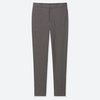 Women Heattech Warm-Lined Pants, Dark Gray, Medium