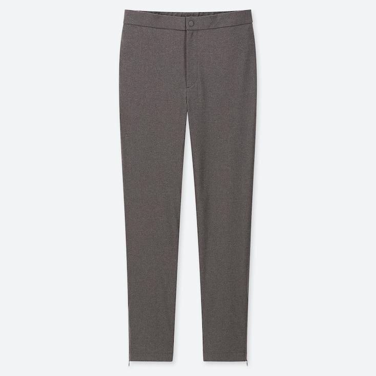 WOMEN HEATTECH WARM-LINED PANTS, DARK GRAY, large