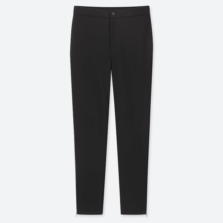 Women Heattech Warm-Lined Pants, Black, Large
