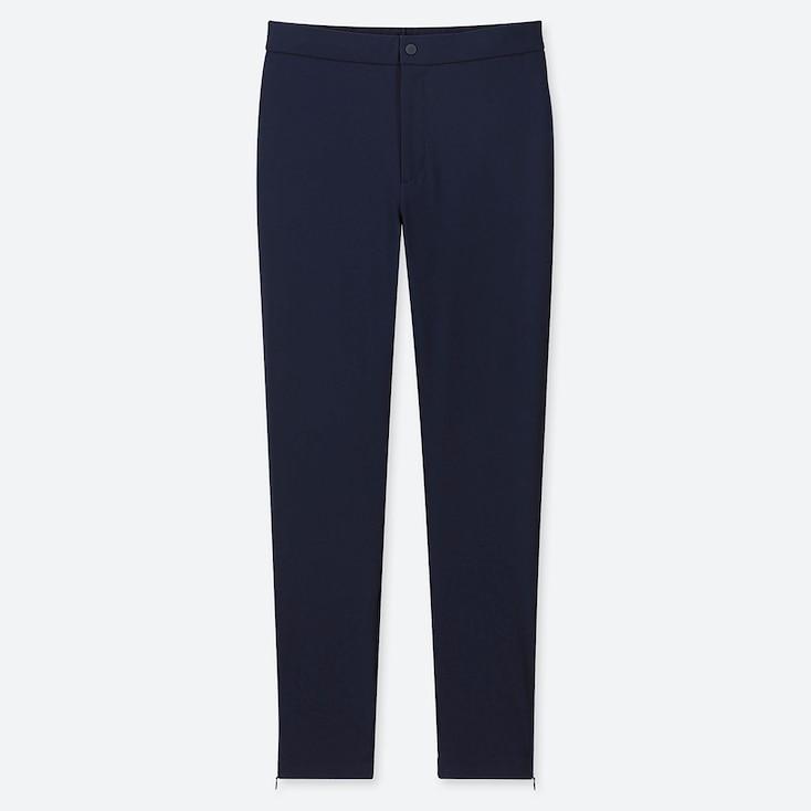 Women Heattech Warm-Lined Pants, Navy, Large