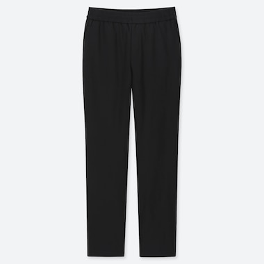 WOMEN WINDPROOF EXTRA WARM-LINED PANTS, BLACK, medium