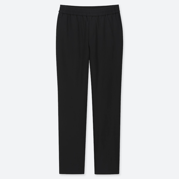 WOMEN WINDPROOF EXTRA WARM-LINED PANTS, BLACK, large