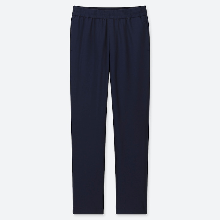 Women Windproof Extra Warm-lined Pants, Navy, Large