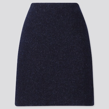 WOMEN WOOL BLEND MINI SKIRT