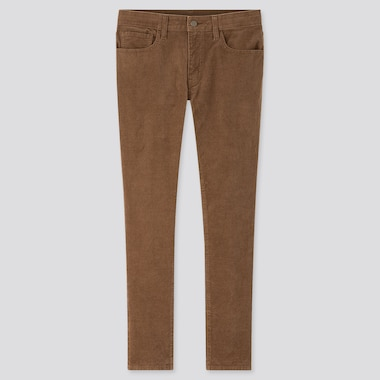 Men Ezy Skinny Fit Corduroy Jeans, Brown, Medium