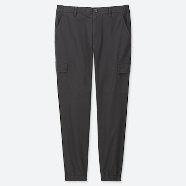 MEN CARGO JOGGER PANTS, DARK GRAY, medium
