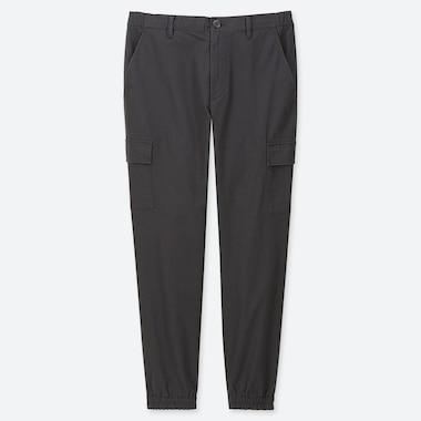 MEN CARGO JOGGER PANTS, DARK GRAY, medium