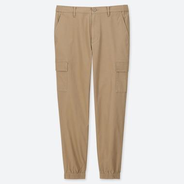 MEN CARGO JOGGER PANTS, BEIGE, medium