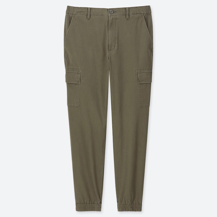 MEN CARGO JOGGER PANTS, DARK GREEN, large