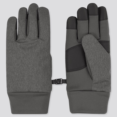 HEATTECH-LINED FUNCTION GLOVES, DARK GRAY, medium