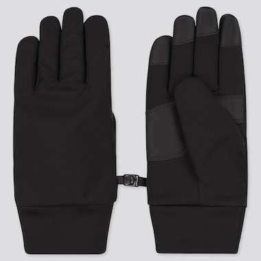 HEATTECH-LINED FUNCTION GLOVES, BLACK, medium