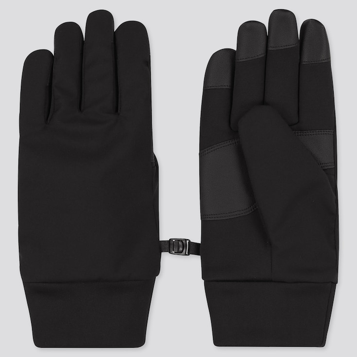 HEATTECH-LINED FUNCTION GLOVES, BLACK, large