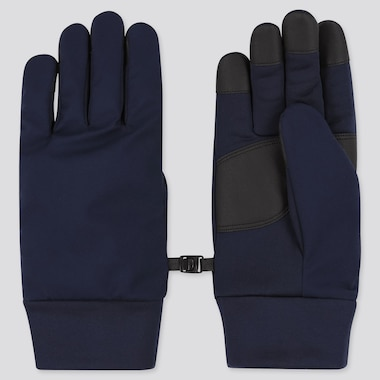 HEATTECH-LINED FUNCTION GLOVES, NAVY, medium