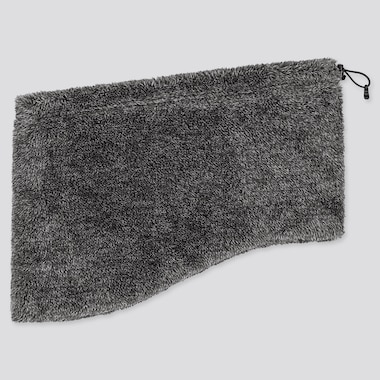 HEATTECH FLUFFY FLEECE NECK WARMER, DARK GRAY, medium
