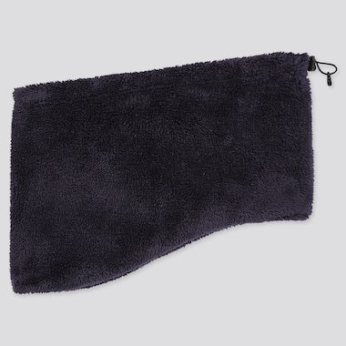Heattech Fluffy Fleece Neck Warmer, Navy, Medium