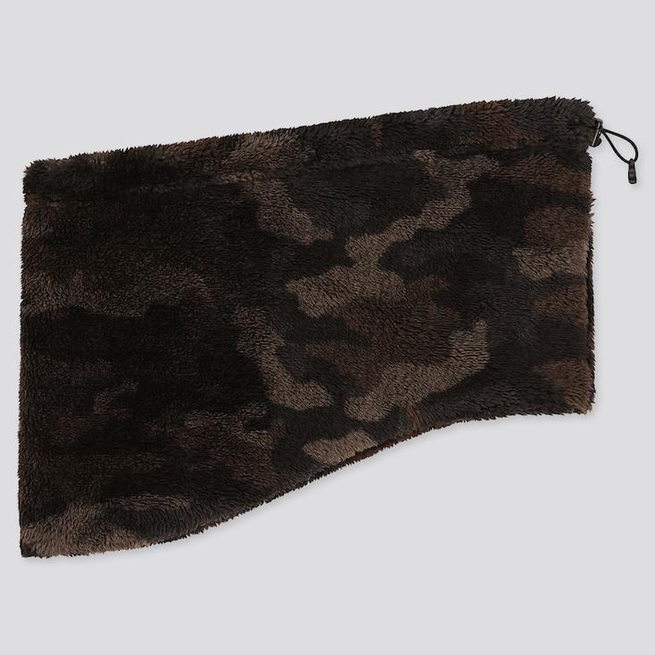 Heattech Fluffy Fleece Neck Warmer, Dark Green, Large