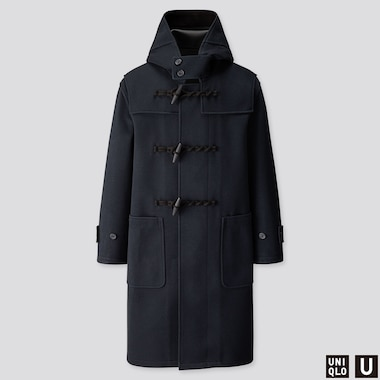 MEN U BLOCKTECH DUFFLE COAT, NAVY, medium