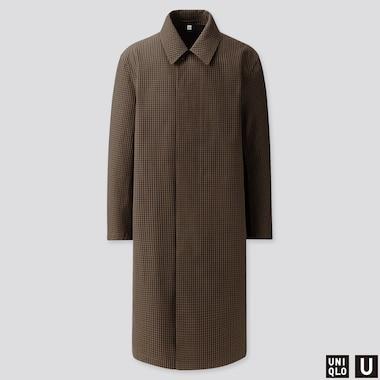MEN U BLOCKTECH SINGLE-BREASTED COAT, BLACK, medium