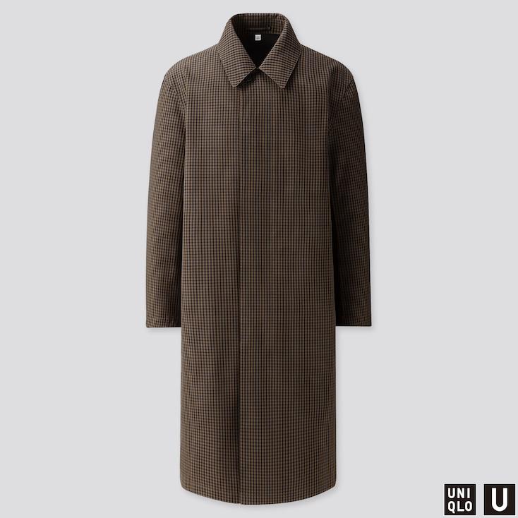 Men U Blocktech Single-breasted Coat, Black, Large