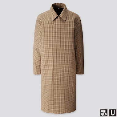 MEN U BLOCKTECH SINGLE-BREASTED COAT, BEIGE, medium