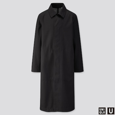 MEN U BLOCKTECH OVERSIZED COAT, BLACK, medium