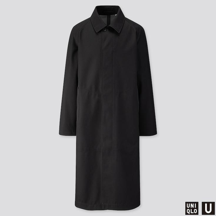MEN U BLOCKTECH OVERSIZED COAT, BLACK, large