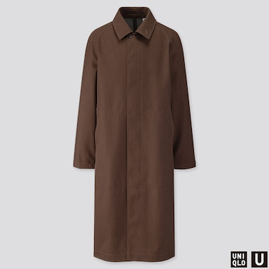 MEN U BLOCKTECH OVERSIZED COAT, BROWN, medium