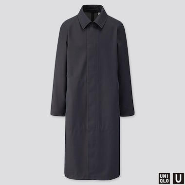 MEN U BLOCKTECH OVERSIZED COAT, BLUE, medium