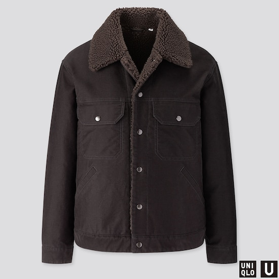 Men Uniqlo U Fleece Lined Trucker Jacket  (1) by Uniqlo