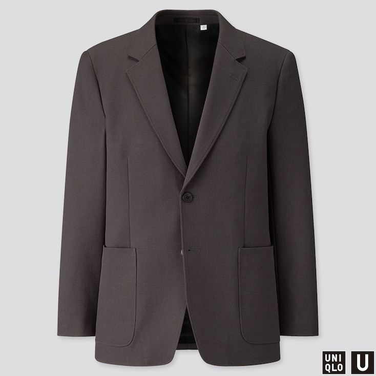 MEN U TAILORED JACKET, DARK GRAY, large
