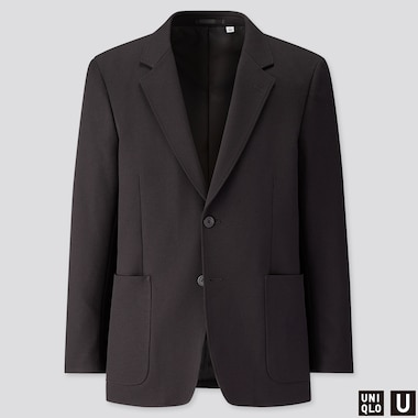 MEN U TAILORED JACKET, BLACK, medium