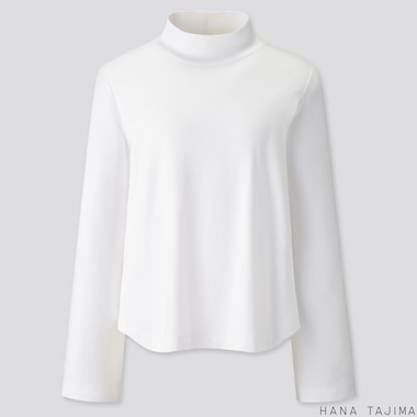 WOMEN SOFT TOUCH LONG-SLEEVE T-SHIRT (HANA TAJIMA), WHITE, medium