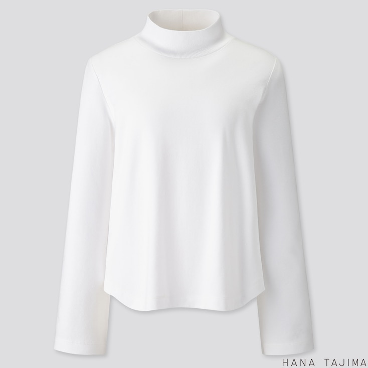 WOMEN SOFT TOUCH LONG-SLEEVE T-SHIRT (HANA TAJIMA), WHITE, large