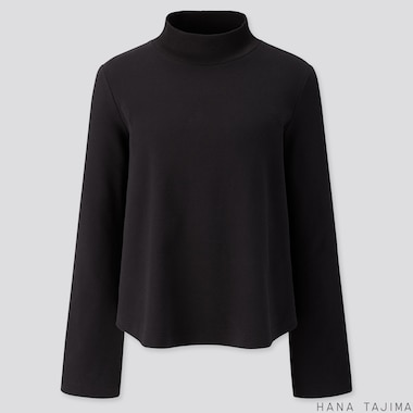 WOMEN SOFT TOUCH LONG-SLEEVE T-SHIRT (HANA TAJIMA), BLACK, medium