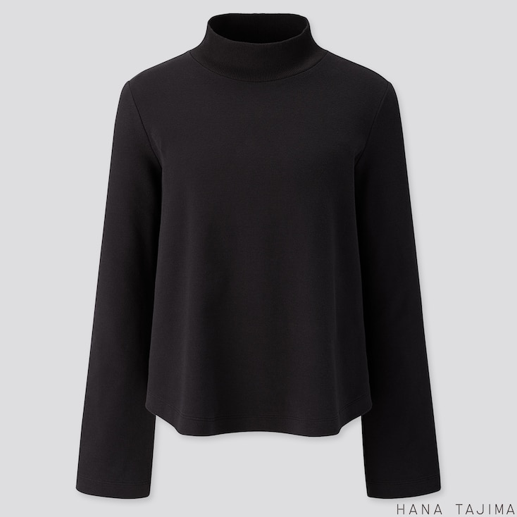 WOMEN SOFT TOUCH LONG-SLEEVE T-SHIRT (HANA TAJIMA), BLACK, large
