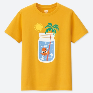 KIDS PIXAR VACATION UT (SHORT-SLEEVE GRAPHIC T-SHIRT), YELLOW, medium
