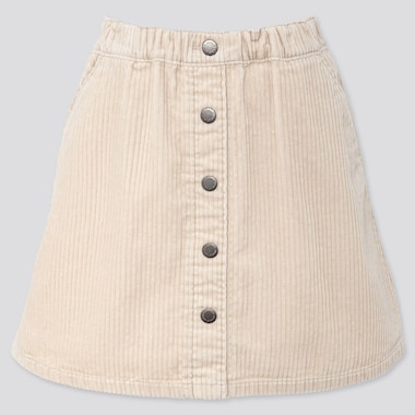 GIRLS CORDUROY SKIRT, NATURAL, medium