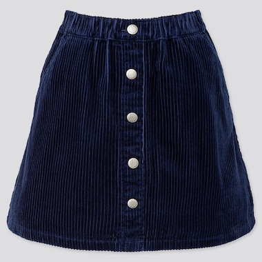 GIRLS CORDUROY SKIRT, NAVY, medium